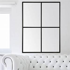 Miroirs Leroy Merlin : miroir fen tre noir x cm leroy merlin ~ Melissatoandfro.com Idées de Décoration