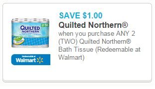 quilted northern coupons quilted northern 12pk rolls price match up