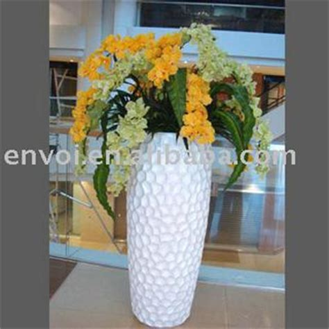 Big White Planters by White Poly Resin Big Flower Pots Vases
