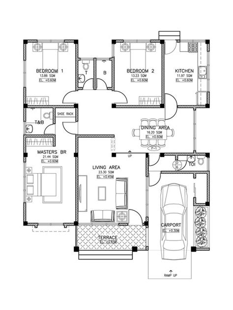 bedroom house plans and designs extraordinary small philipino inspired house plan