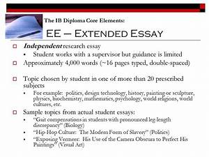 History extended essay