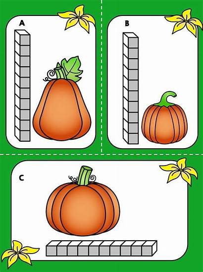 Math Measuring Halloween Pumpkin Clipart Kindergarten Measurement