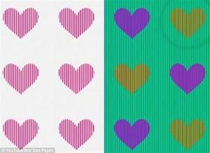 illusion doptique de quelles couleurs sont ces coeurs With toute les couleurs de peinture 9 illusion doptique