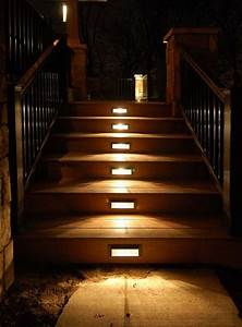 30 astonishing step lighting ideas for outdoor space for Outdoor stair lighting