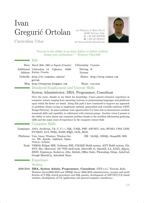 A Cv by How To Write Curriculum Vitae Resume Format