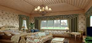 american style living room curtains design rendering