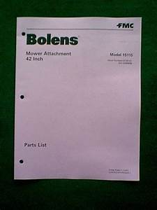 Bolens Mower Deck 42 U0026quot  Model   15115 Parts Manual