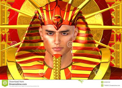 Egyptian Pharaoh Ramses A Modern Digital Art Version Of
