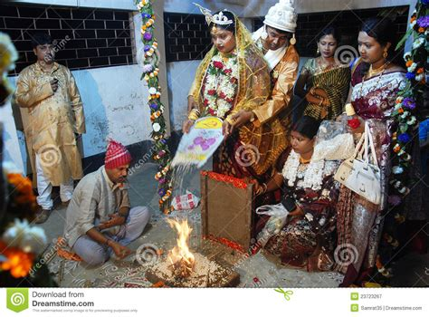 bengali marriage rituals editorial photography image