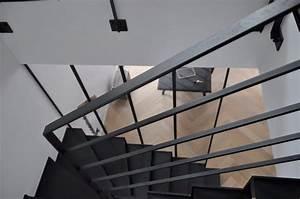 Garde Corp Escalier : garde corps int rieur en acier ou inox pour escalier ~ Dallasstarsshop.com Idées de Décoration