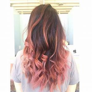 Pink and brown ombre achieved by aveda color. Love this ...