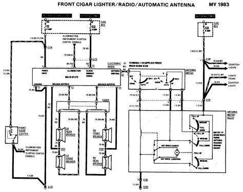 mercedes w123 speaker wiring diagram