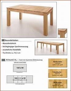 Esstisch Ausziehbar Skandinavisch : esstisch allround xl 160 310 x90x76cm kernbuche lackiert ~ Michelbontemps.com Haus und Dekorationen