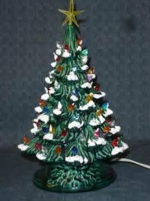 green glazed ceramic tree 13 inch version