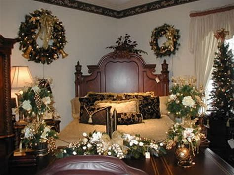 elegant interior theme christmas bedroom decorating ideas