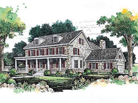 lovely stone farmhouse  architectural designs