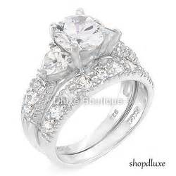 womens engagement rings 4 15 ct cut cz 925 sterling silver wedding ring set 39 s size 4 11 ebay