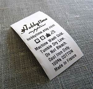 300 custom care label black printed on white polyester With custom care labels for clothing