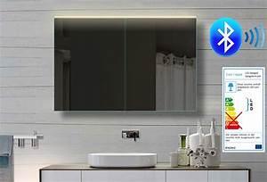 Bluetooth Lautsprecher Badezimmer : aluminium bad spiegelschrank led bluetooth lautsprecher 102x70cm bhc102h70 ebay ~ Markanthonyermac.com Haus und Dekorationen