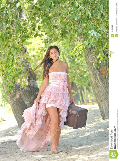beauty girl in a old fashioned dress stock images image
