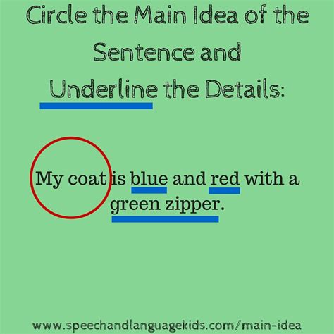 Helping Children To Identify Main Ideas And Supporting