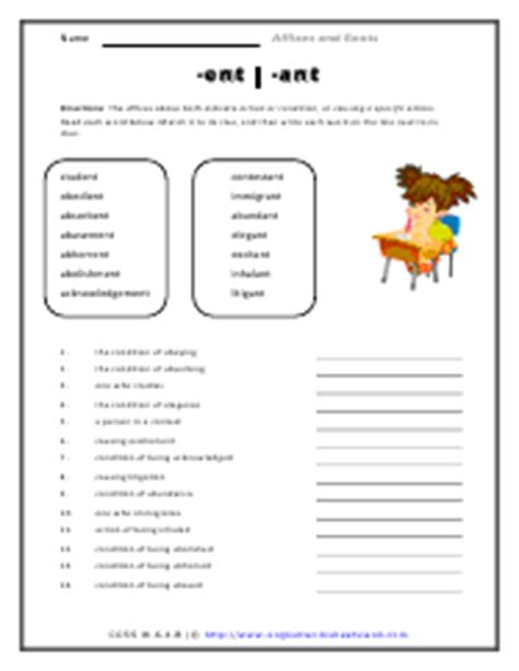 worksheets land answers affixes and roots using affixes and roots to determine words worksheets