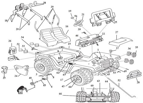 Jeep Exploded Diagram by Power Wheels Diego Jeep Wrangler Parts