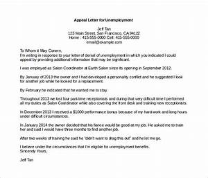 appeal letter templates 11 free word pdf documents With free unemployment appeal letter template