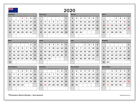 annual calendar   zealand michel zbinden en