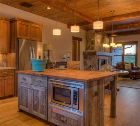 rustic kitchen island ideas keeping  earthy  charming