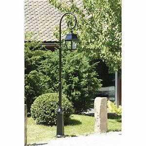 Lampadaire D Extérieur : lampadaire ext rieur avenue 2 e27 60 w noir roger pradier ~ Edinachiropracticcenter.com Idées de Décoration