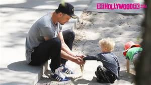 Josh Duhamel & His Son Axl Have A Blast At The Park ...
