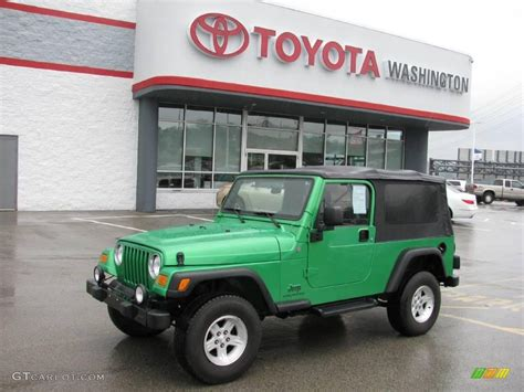 2004 Electric Lime Green Pearl Jeep Wrangler Unlimited 4x4