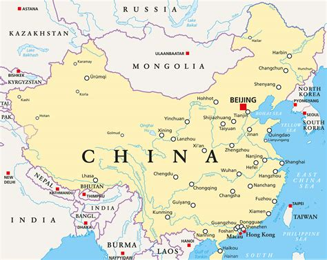 map  china guide   world