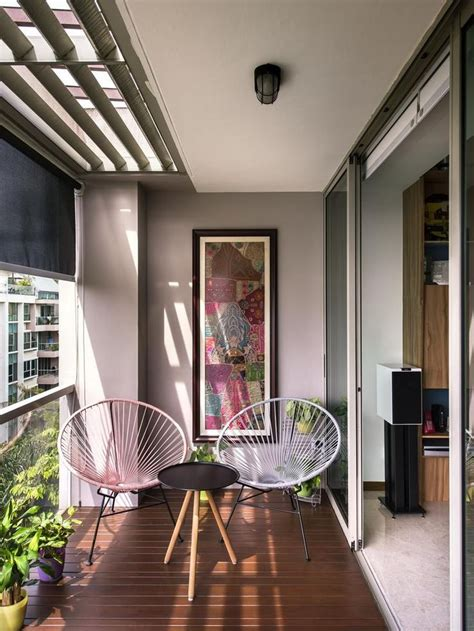 ideas  balcony design  pinterest small