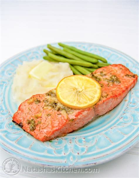 baked salmon recipes baked salmon recipe with garlic and dijon natashaskitchen com