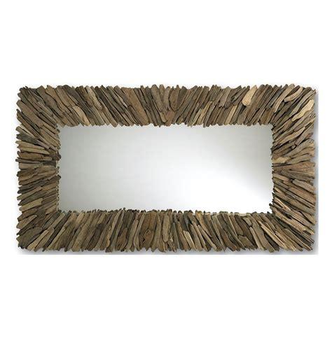 driftwood mirror bonita modern rustic driftwood long rectangle mirror 42 x 72