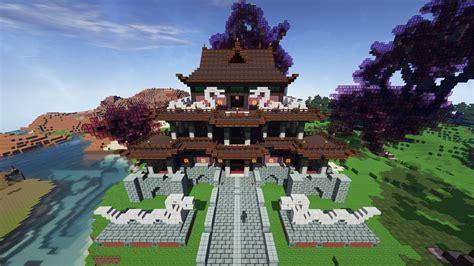 japanese temple minecraft build  christurboex