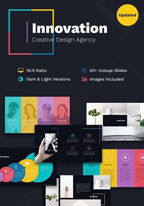 Innovation Creative PPT For Design Agency PowerPoint ...