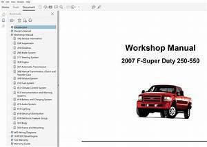 2007 Ford F250 F350 F450 F550 Repair Manual