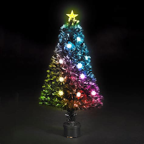 6 feet fiber optic artificial christmas tree