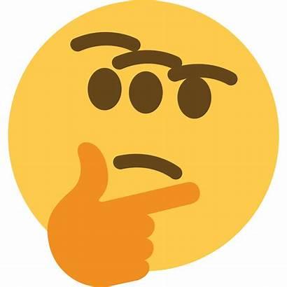 Emoji Transparent Thinking Background Think Clipart Clip