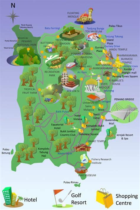 penang tourist map askcom image search proyek