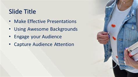college student powerpoint template  powerpoint