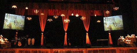 rustic elegance church stage design ideas