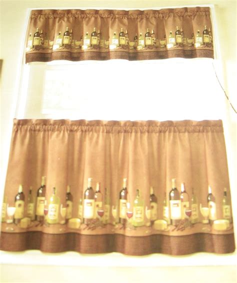 tuscan kitchen curtains valances anns home decor and more wines tuscany 24l tiers valance kitchen curtains set