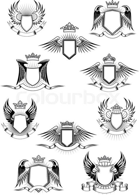 coat of arms template wings heraldic coat of arms templates with medieval winged