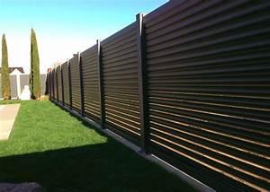 Panneau Brise Vue Aluminium : barriere cache vue brise vue bois terrasse closdestreilles ~ Melissatoandfro.com Idées de Décoration