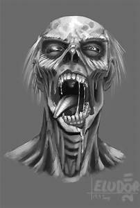 Zombie Head by Eludor on DeviantArt
