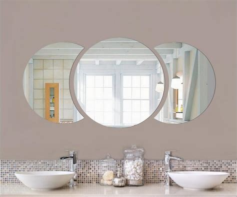 1x 30pcs diy circles acrylic wall stickers. DIY 60*30cm Big Round Half Circle Simple Wall Mirror Sticker 3d Acrylic Wall Sticker for Home ...